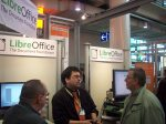 Close-up picture of the LibreOffice CeBIT booth