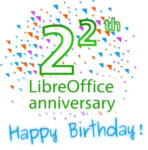 LibreOffice turns 2^2 years