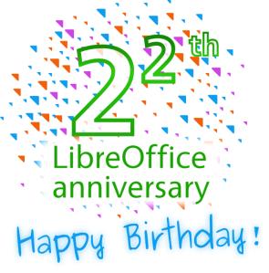 LibreOffice turns 2^2 years